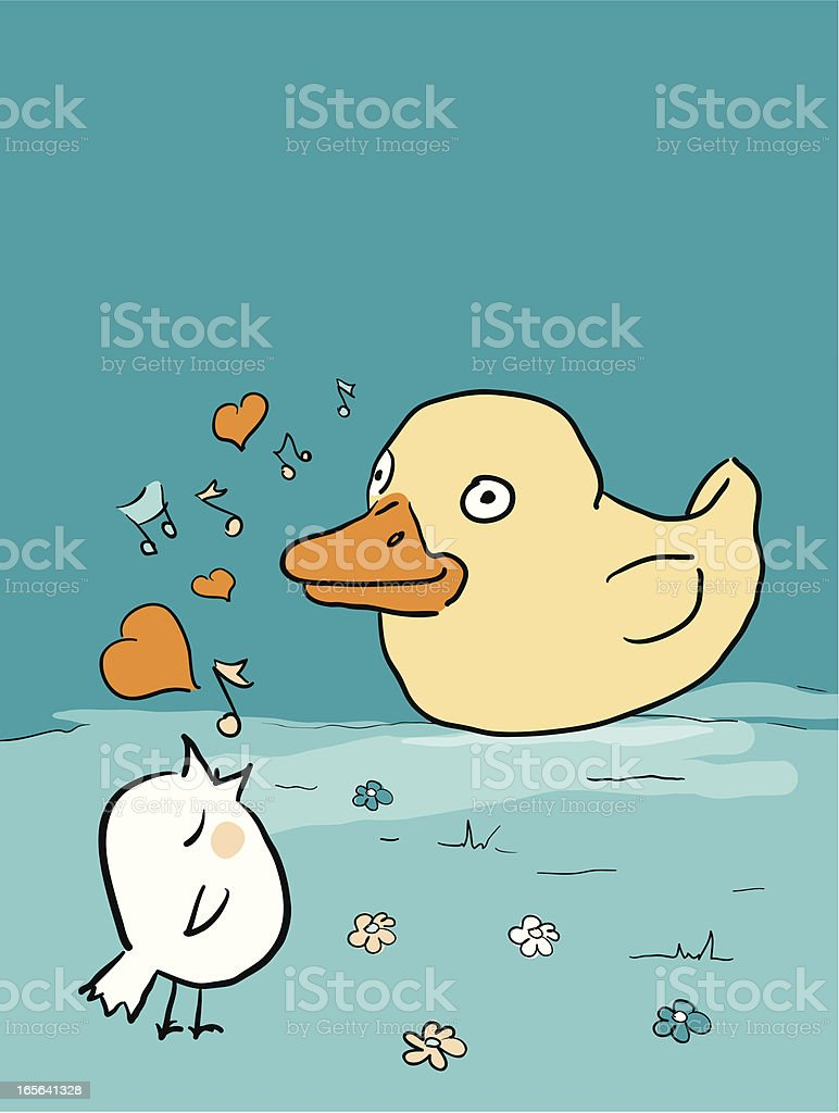 Bird Brains - Unrequited Love royalty-free stock vector art