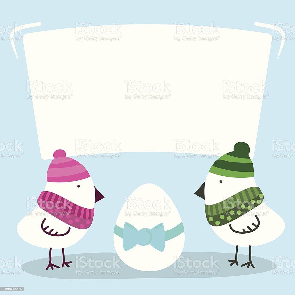 Bird expect their egg royalty-free stock vector art