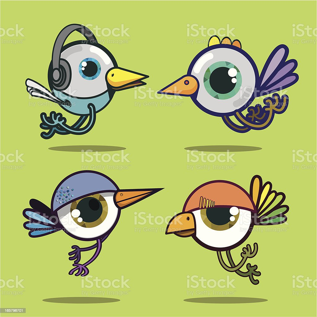 Bird eyes royalty-free stock vector art