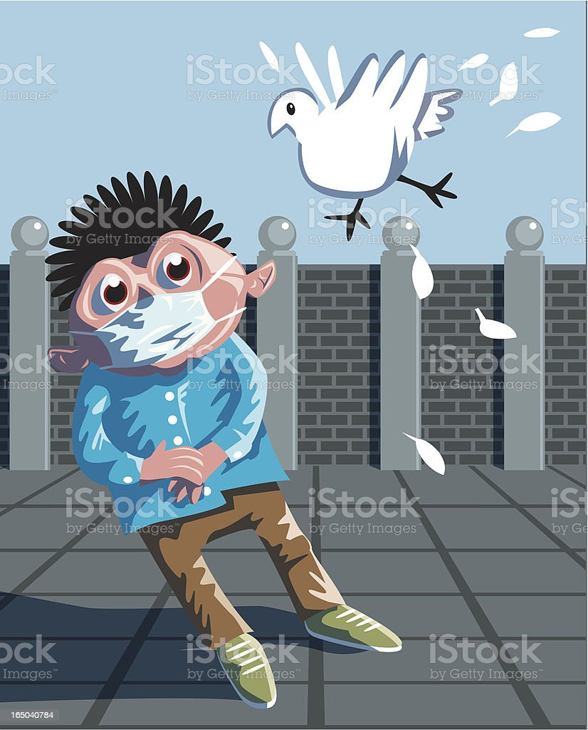Bird Flu Alert! (Vector) royalty-free stock vector art