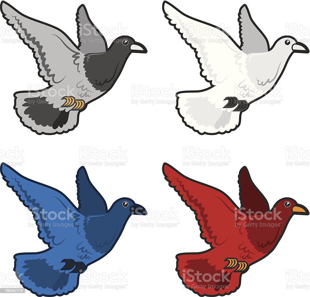 Bird Flying Colors royalty-free stock vector art