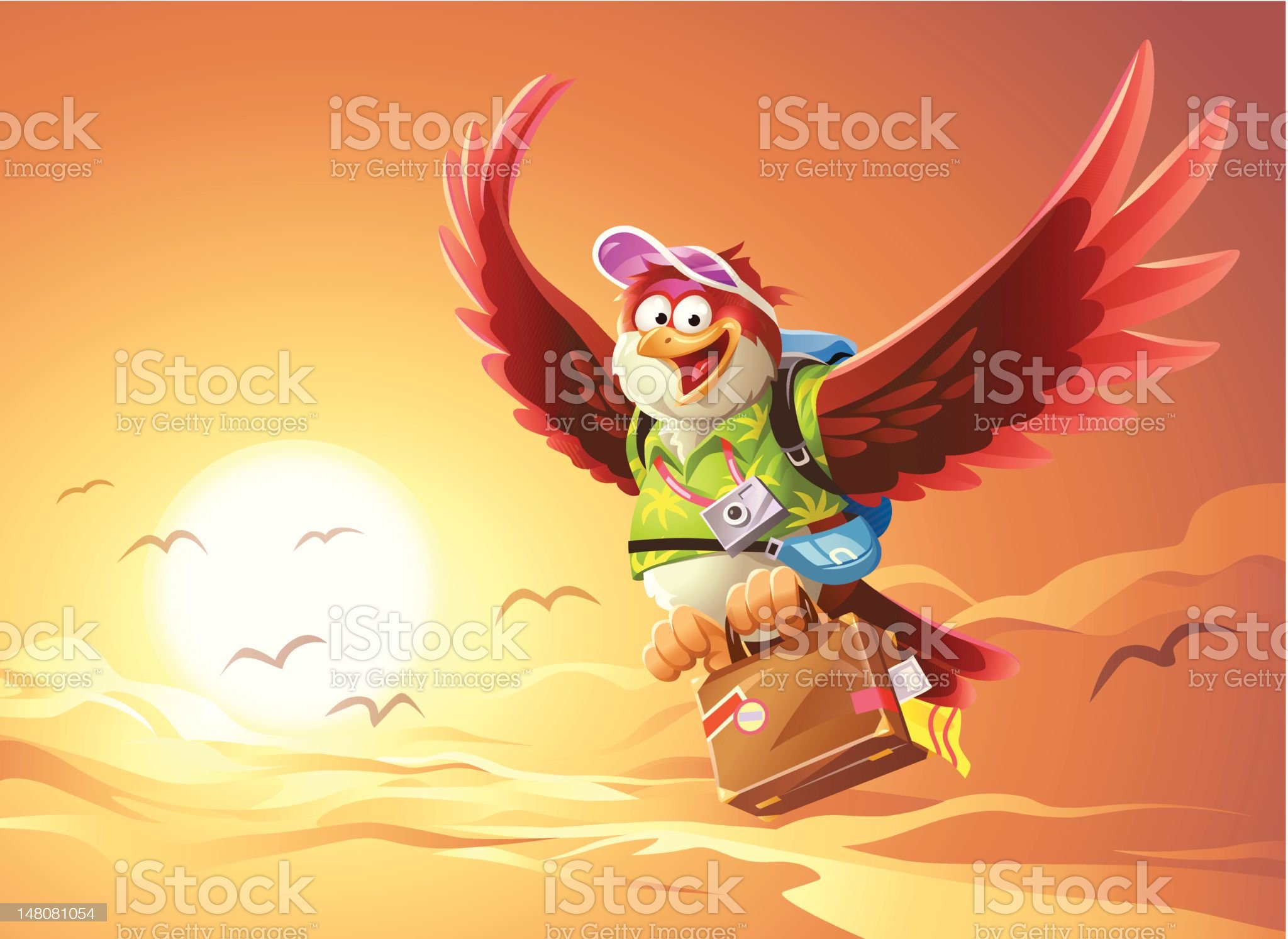 Bird Flying South royalty-free stock vector art