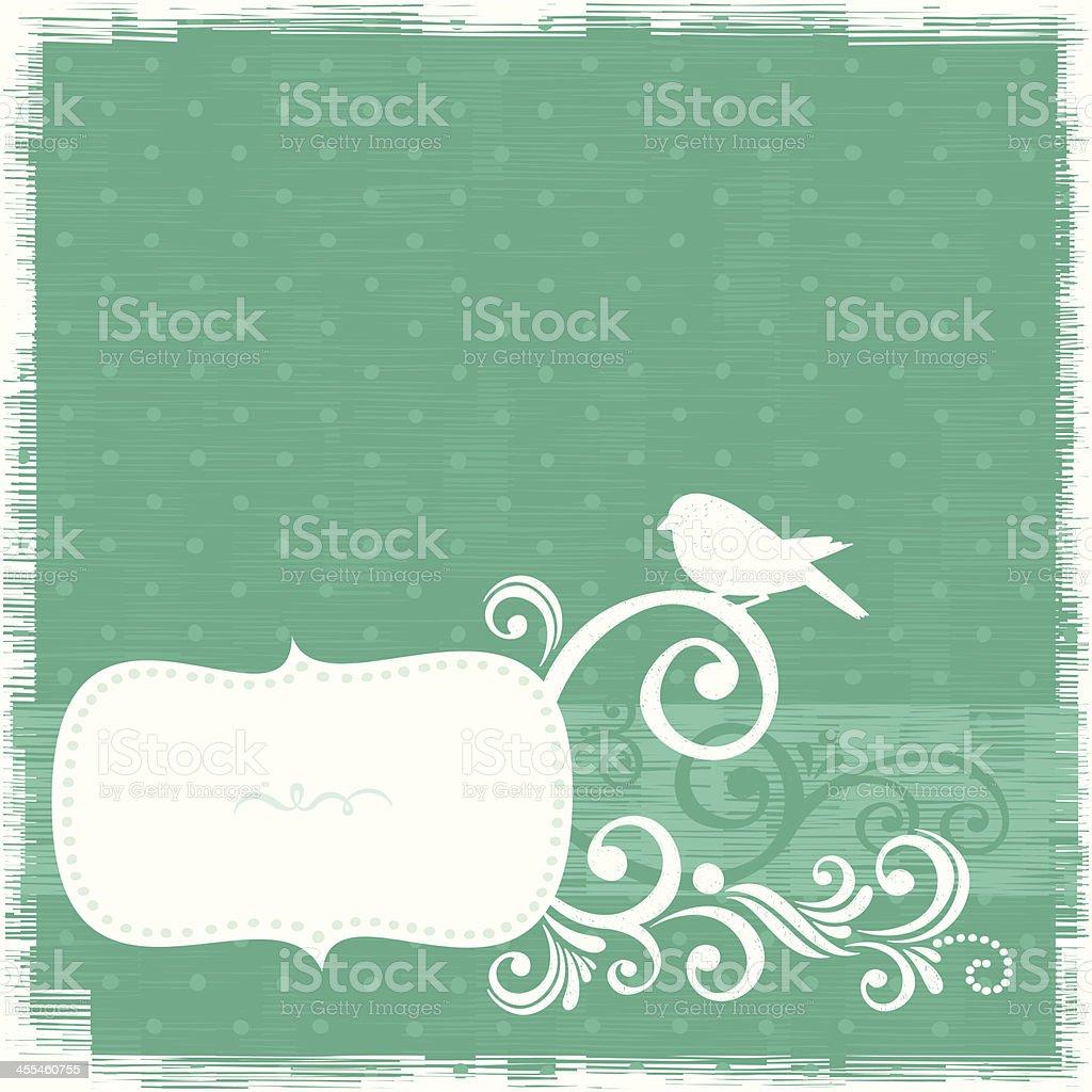 Bird frame royalty-free stock vector art
