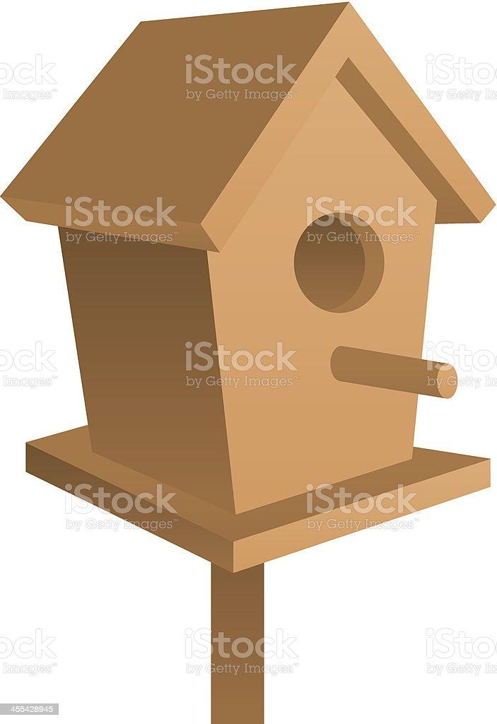 Bird House royalty-free stock vector art