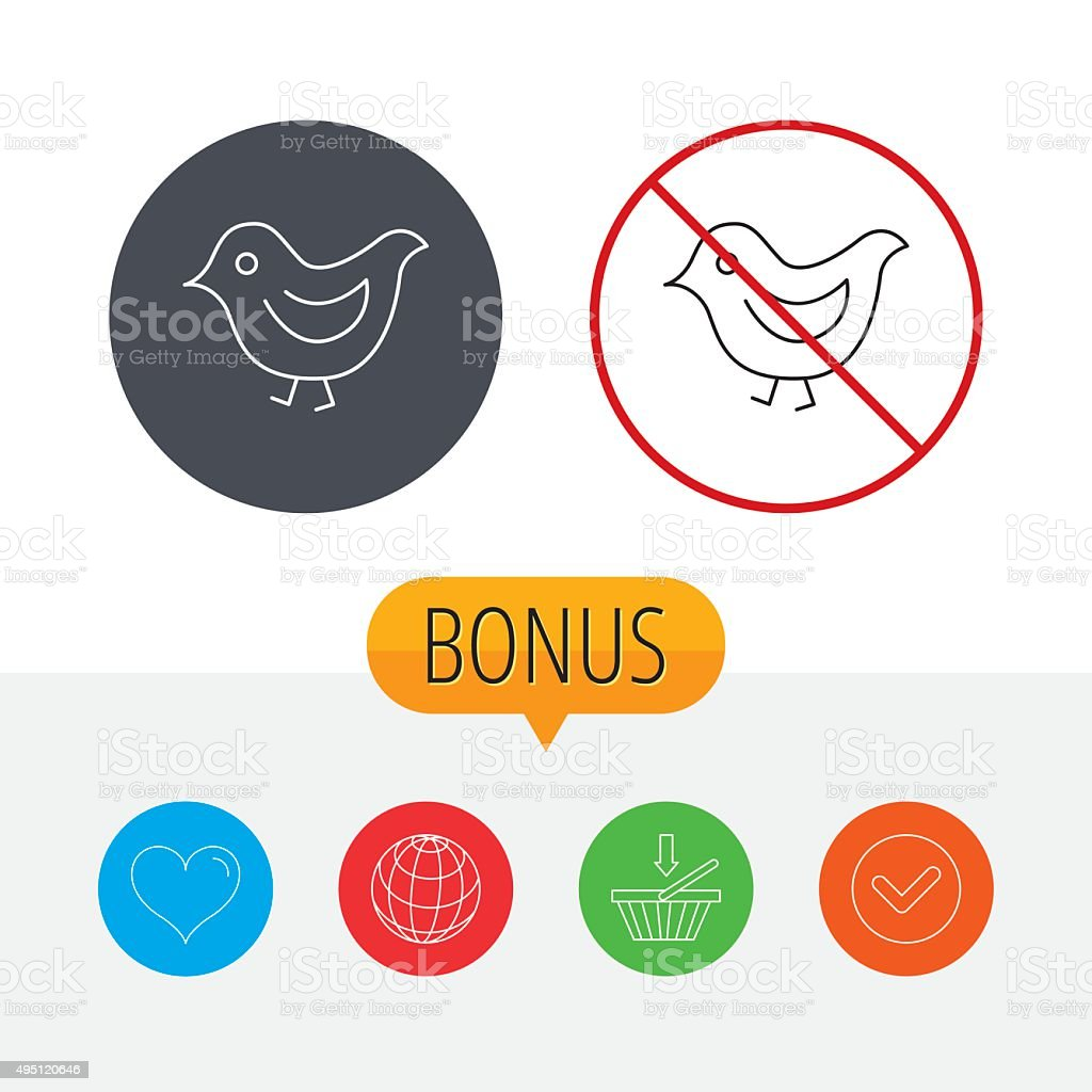 Bird icon. Chick with beak sign. vector art illustration