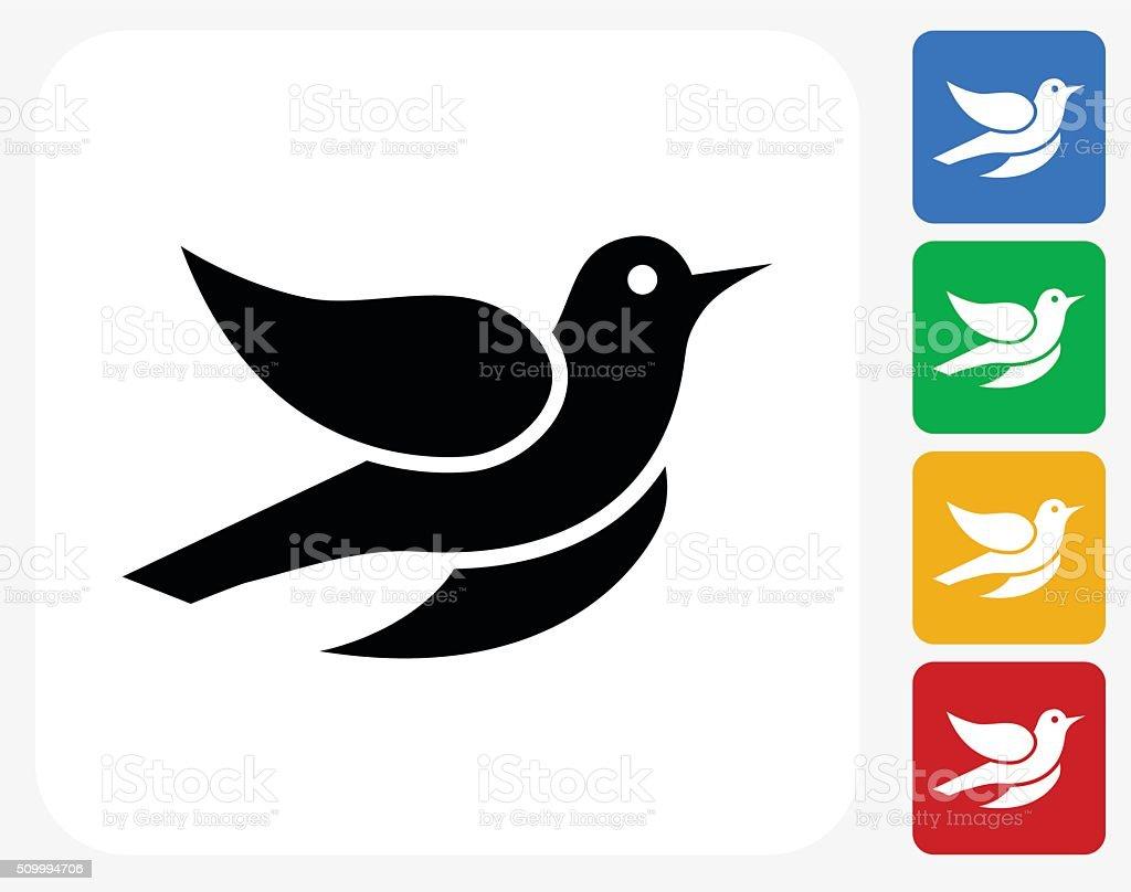 Bird Icon Flat Graphic Design vector art illustration