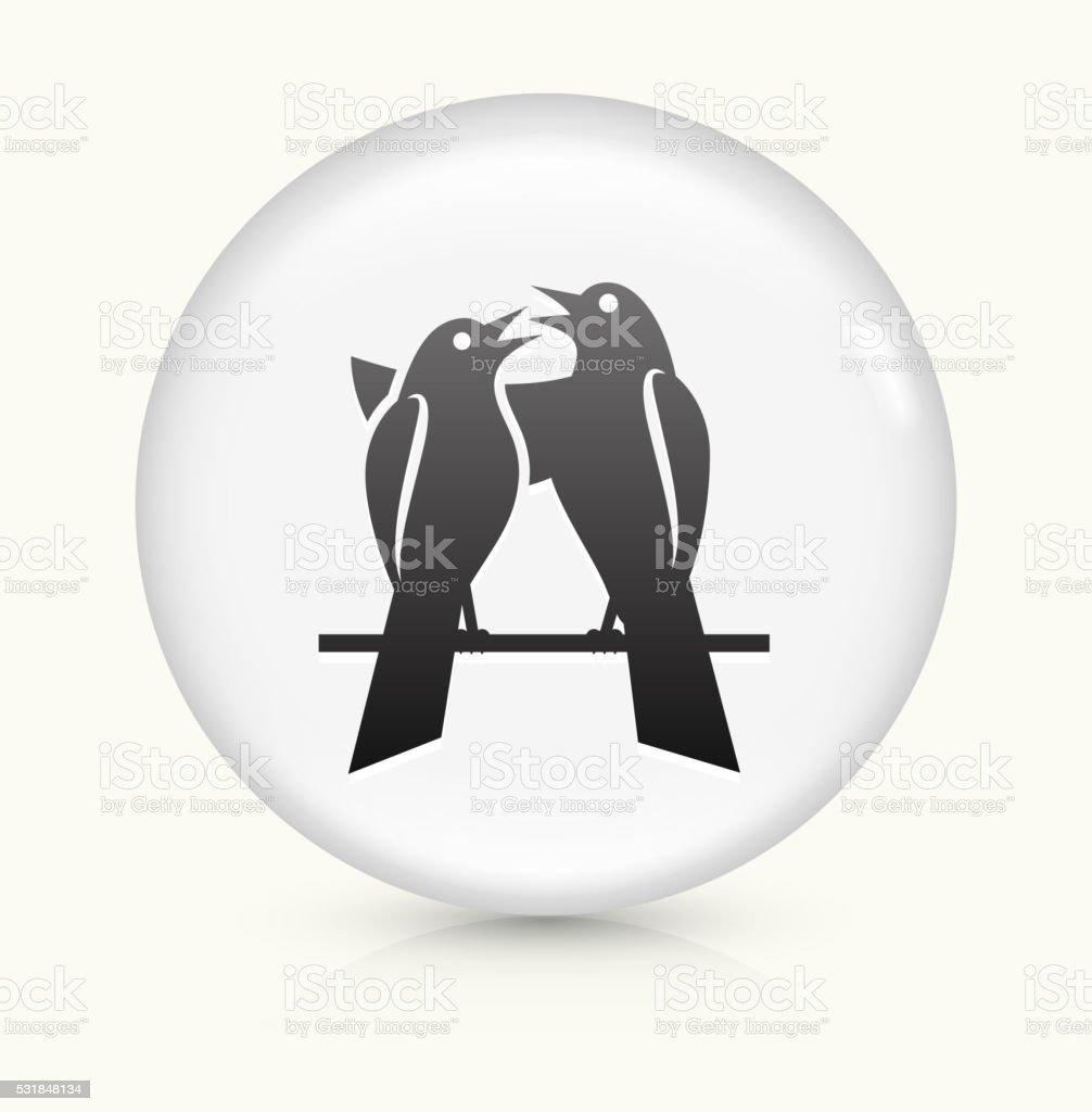 Bird icon on white round vector button vector art illustration
