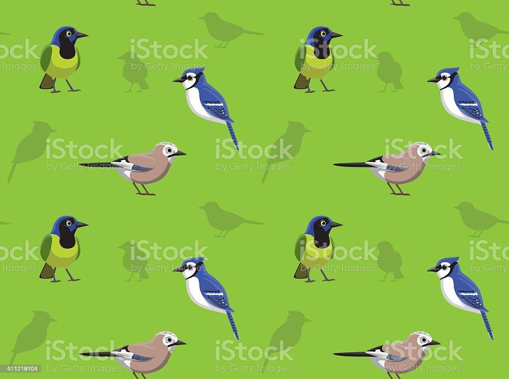 Bird Jay Wallpaper vector art illustration