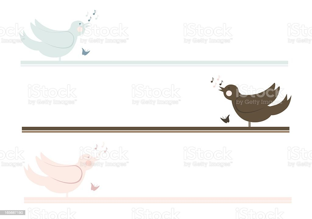 Bird Lines vector art illustration