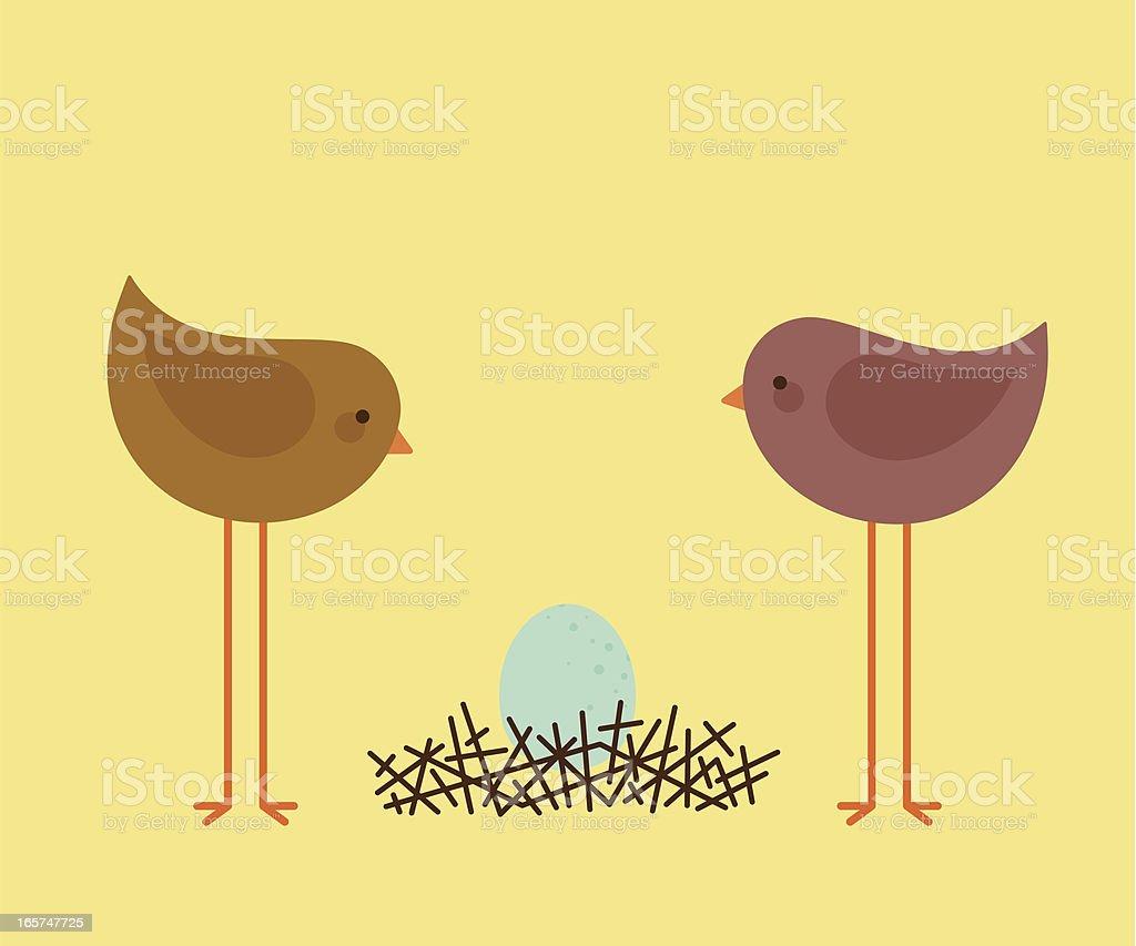 Bird Nest Egg royalty-free stock vector art