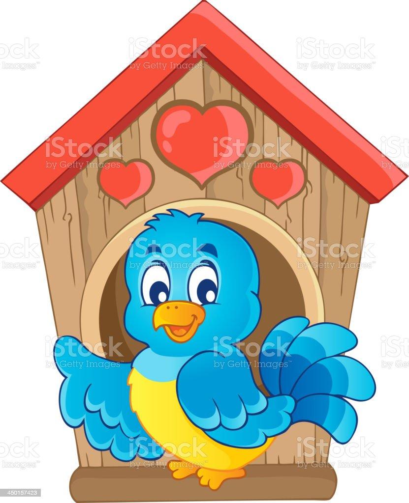 Bird nesting box theme image 1 royalty-free stock vector art