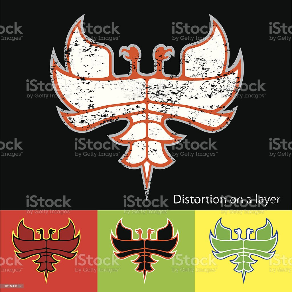 Bird of fire royalty-free stock vector art