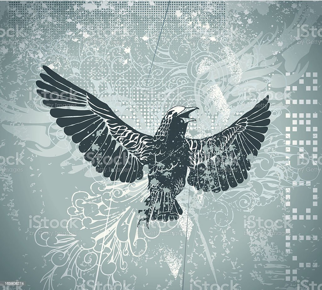 Bird of prey royalty-free stock vector art