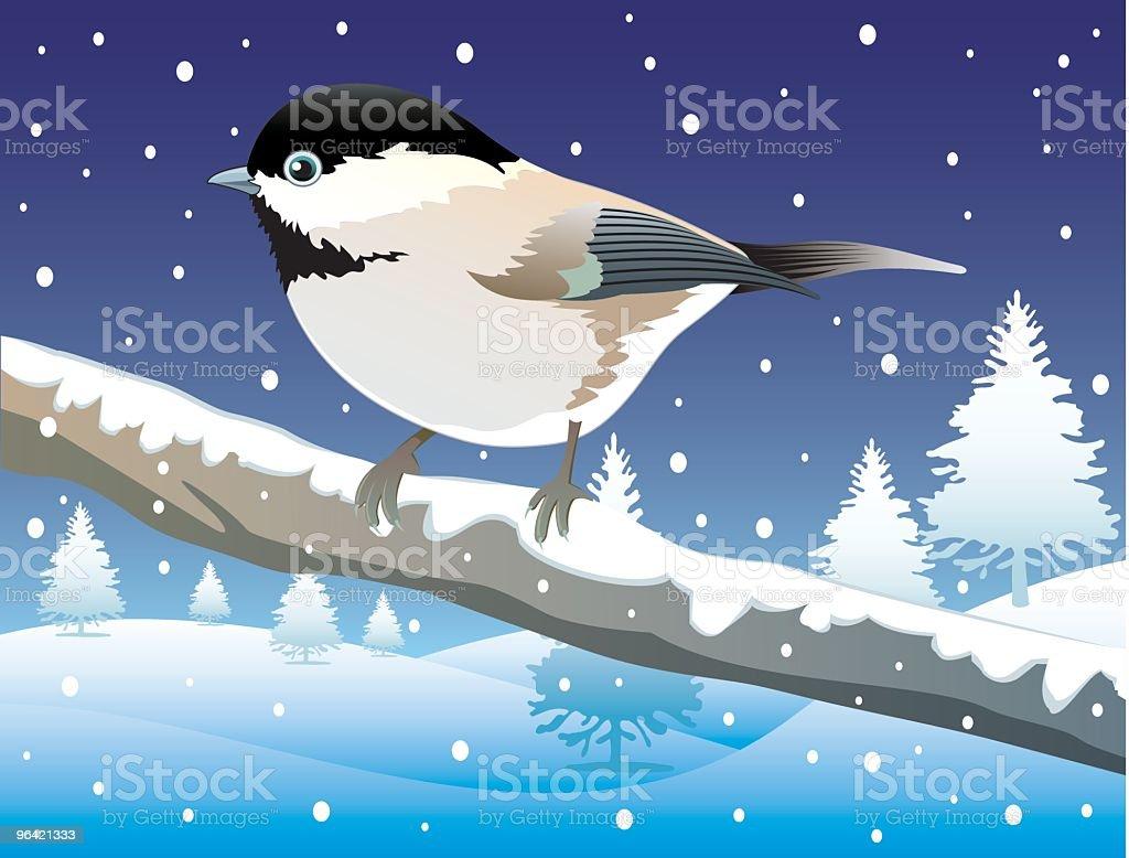 Bird on a branch royalty-free stock vector art
