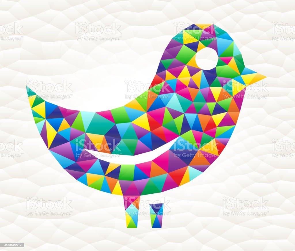 Bird on triangular pattern mosaic royalty free vector art royalty-free stock vector art