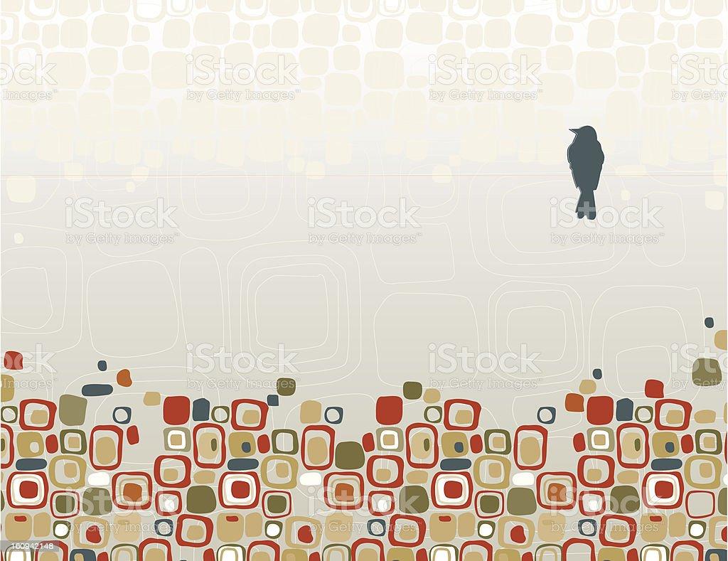 Bird on Wire Silhouette vector art illustration