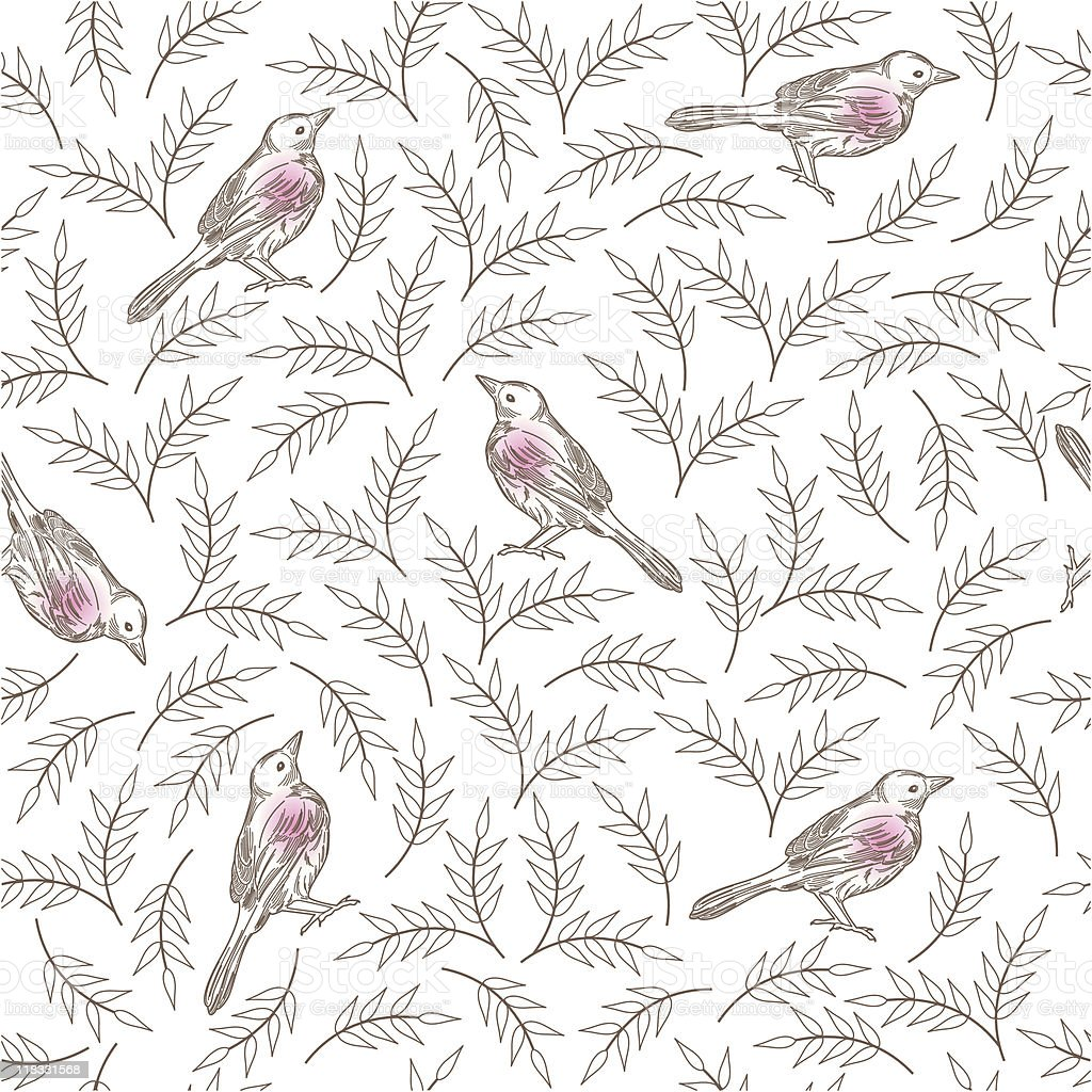 Bird Pattern royalty-free stock vector art