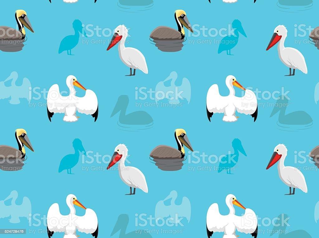 Bird Pelican Wallpaper vector art illustration