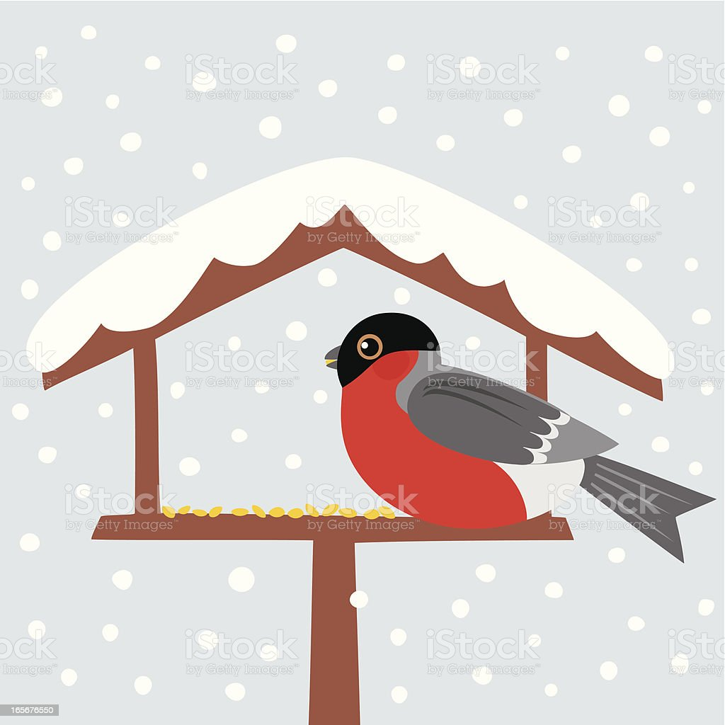 Bird table vector art illustration