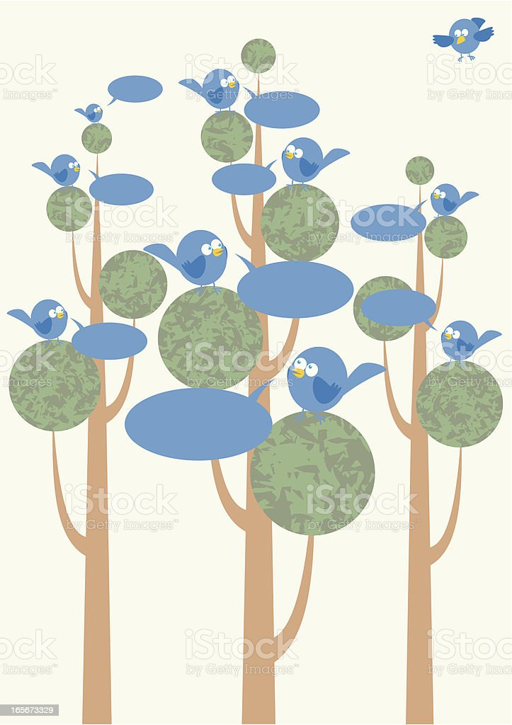 Bird Talk vector art illustration