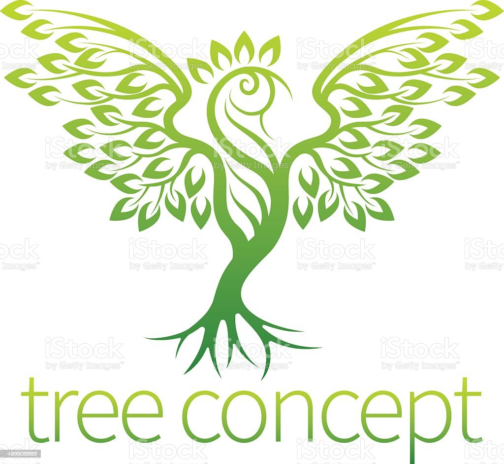 Bird Tree Concept vector art illustration