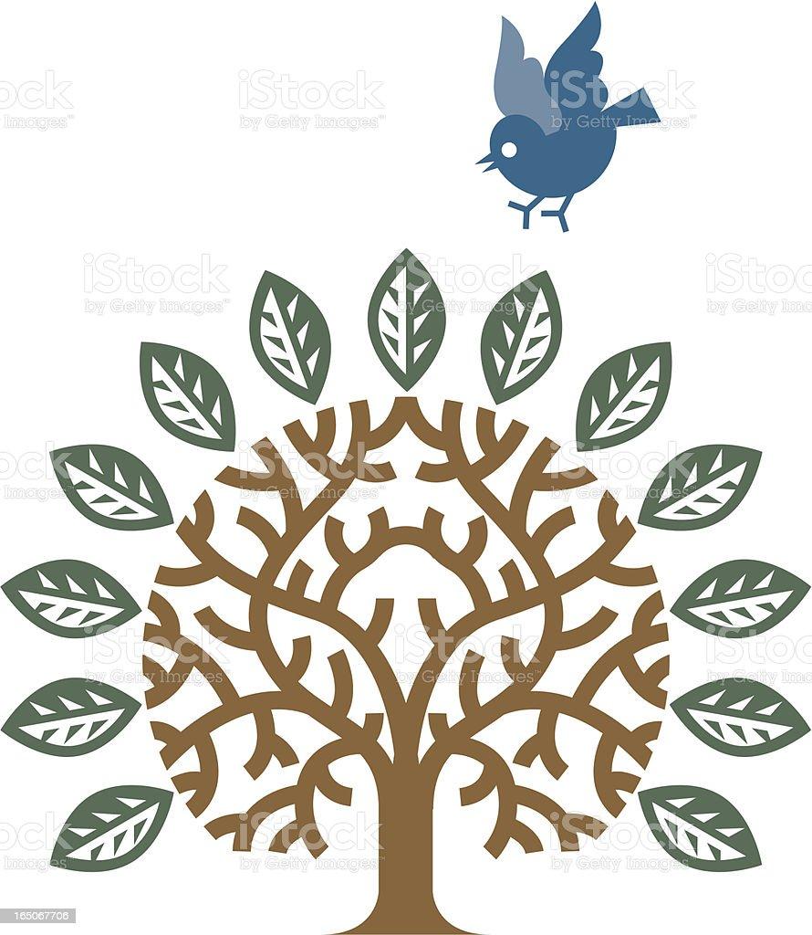 Bird tree royalty-free stock vector art