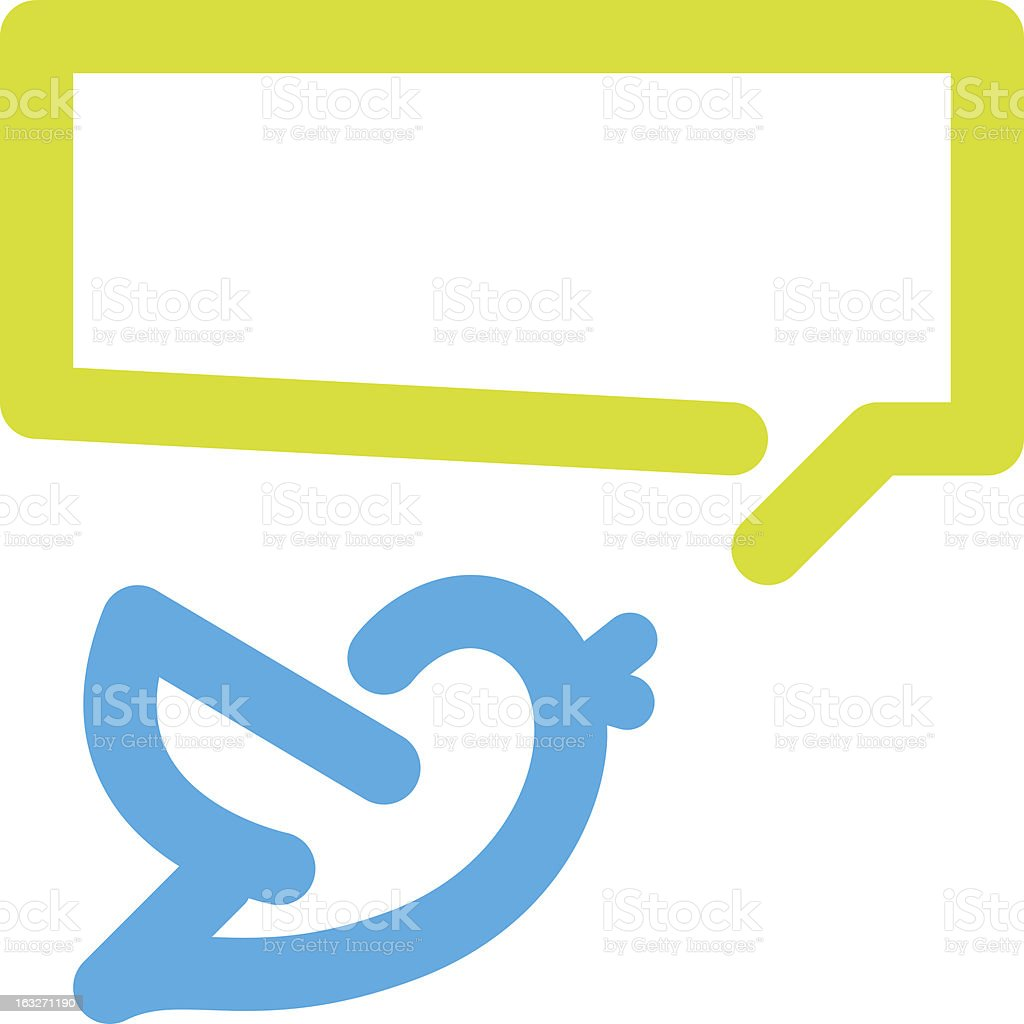 Bird tweets icon vector art illustration
