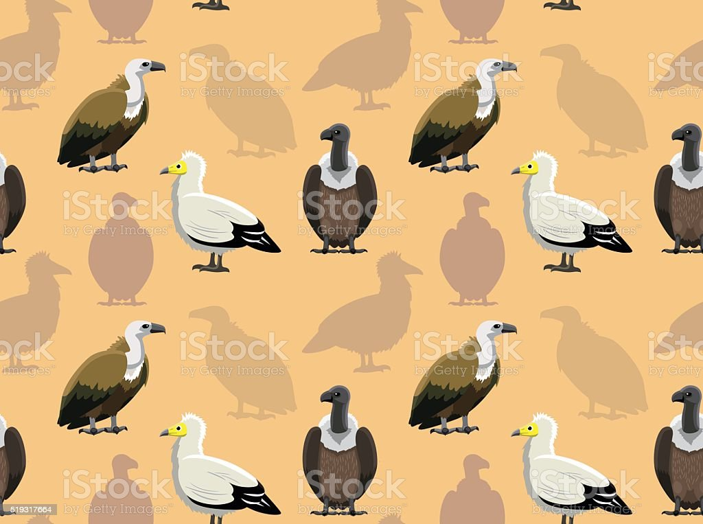 Bird Vulture Wallpaper vector art illustration