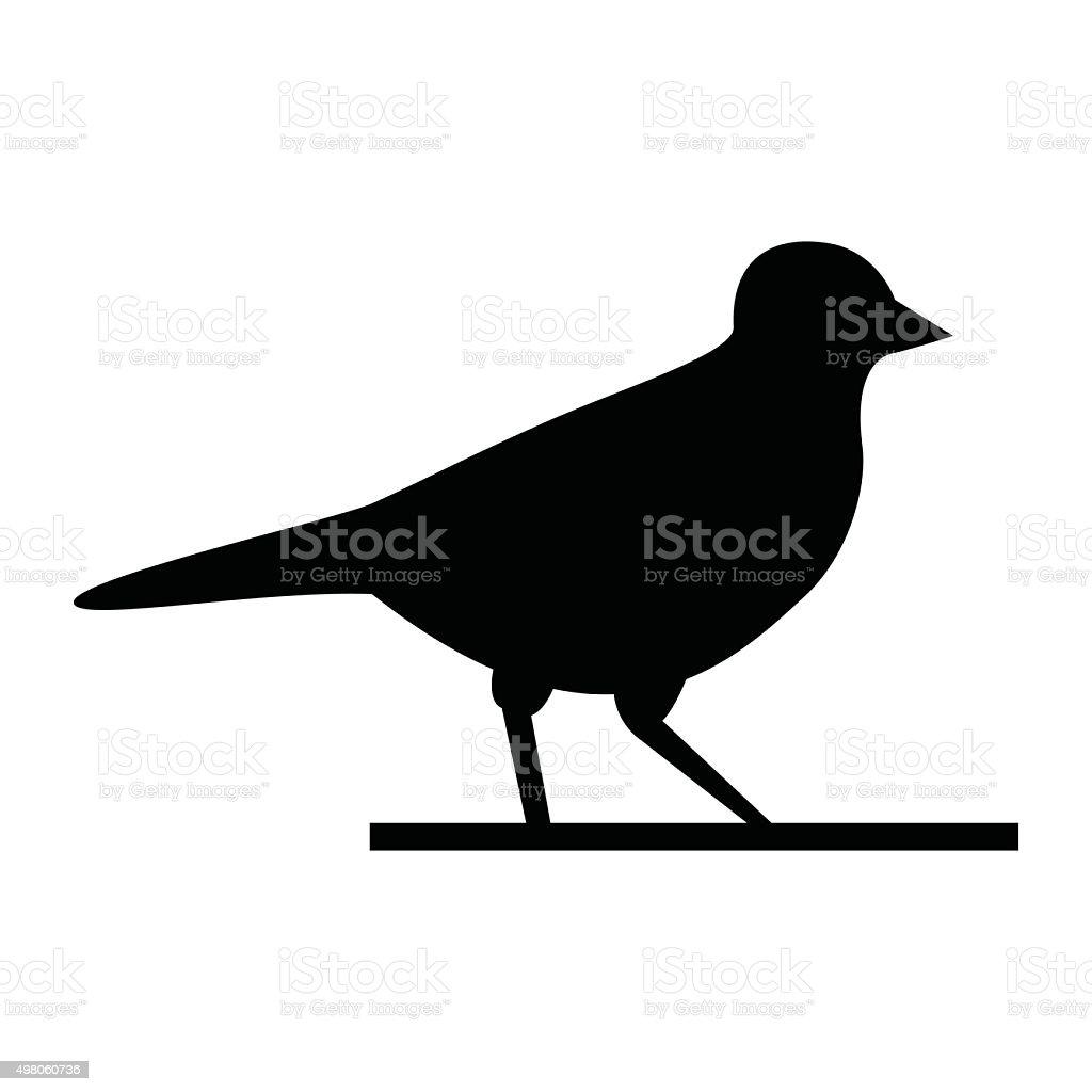 Bird walking  - VECTOR vector art illustration