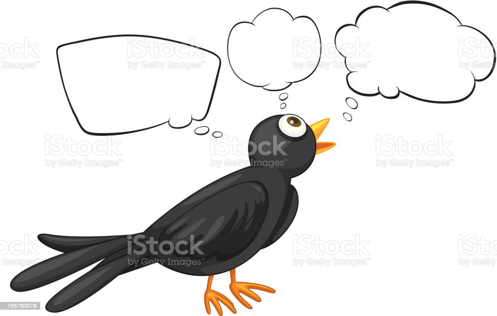 Bird with empty callouts royalty-free stock vector art