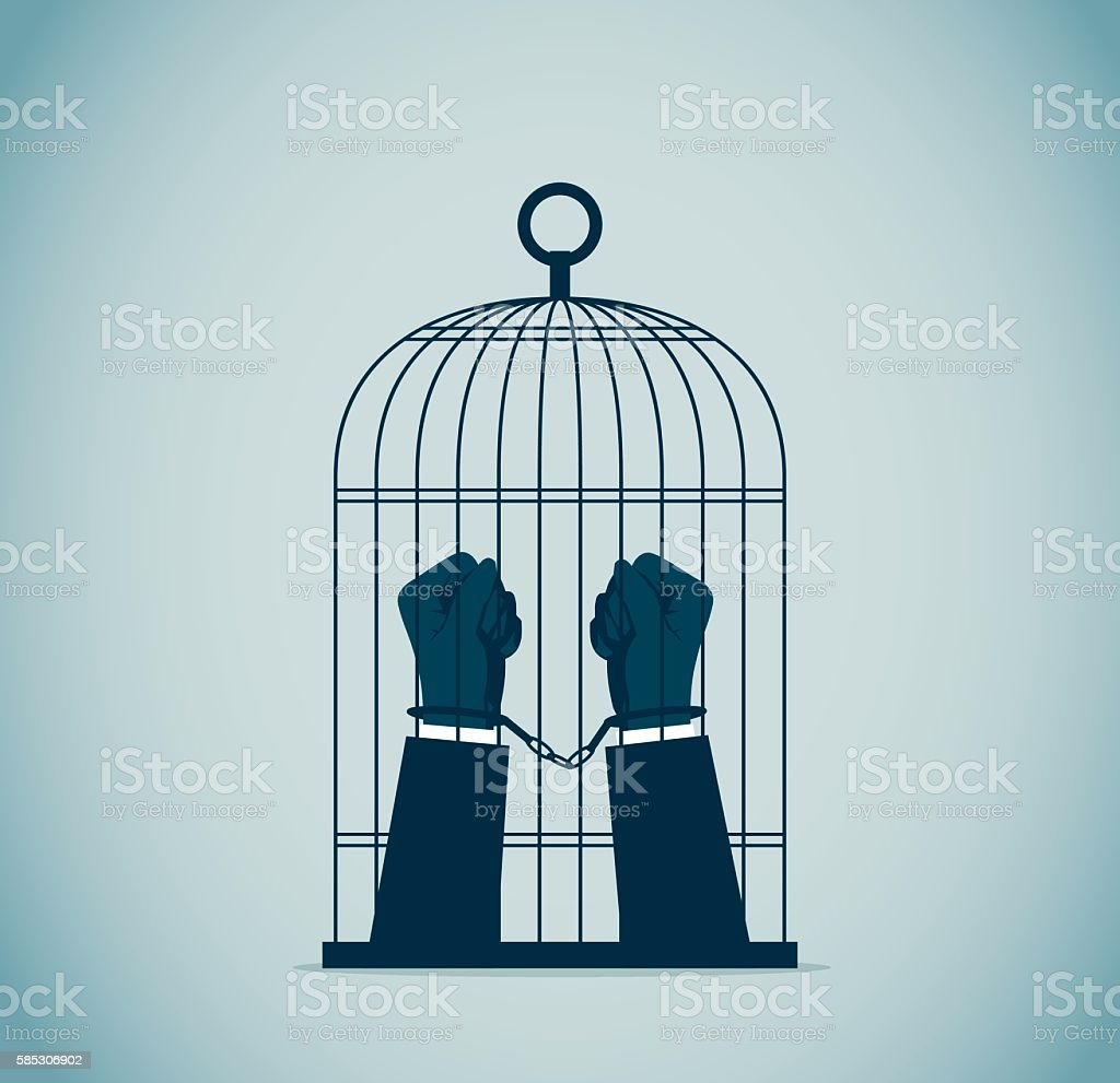 Birdcage vector art illustration