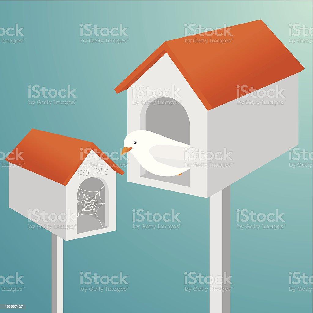 Birdhouse for sale royalty-free stock vector art