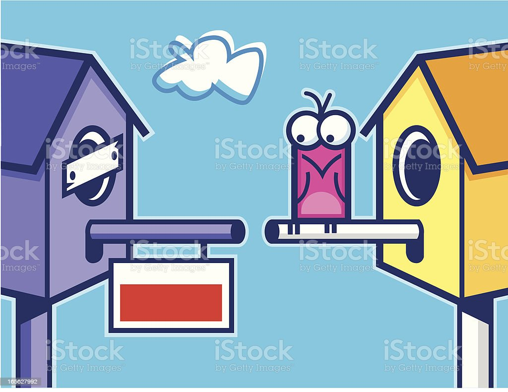 birdhouse foreclosure royalty-free stock vector art