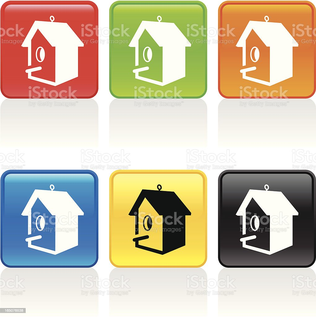 Birdhouse Icon royalty-free stock vector art