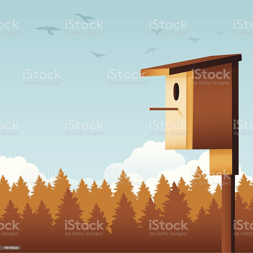 Birdhouse royalty-free stock vector art