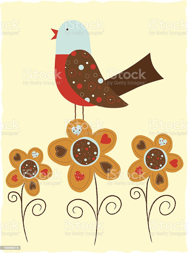 Birds and Flowers (Series) royalty-free stock vector art