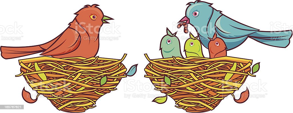 birds and roost royalty-free stock vector art