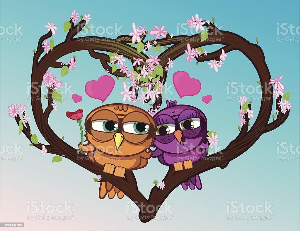 Birds in love. royalty-free stock vector art
