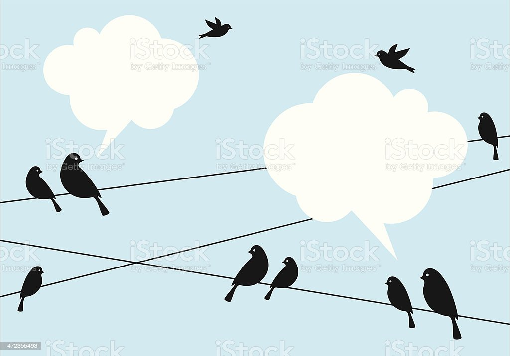 birds in the sky, vector background vector art illustration