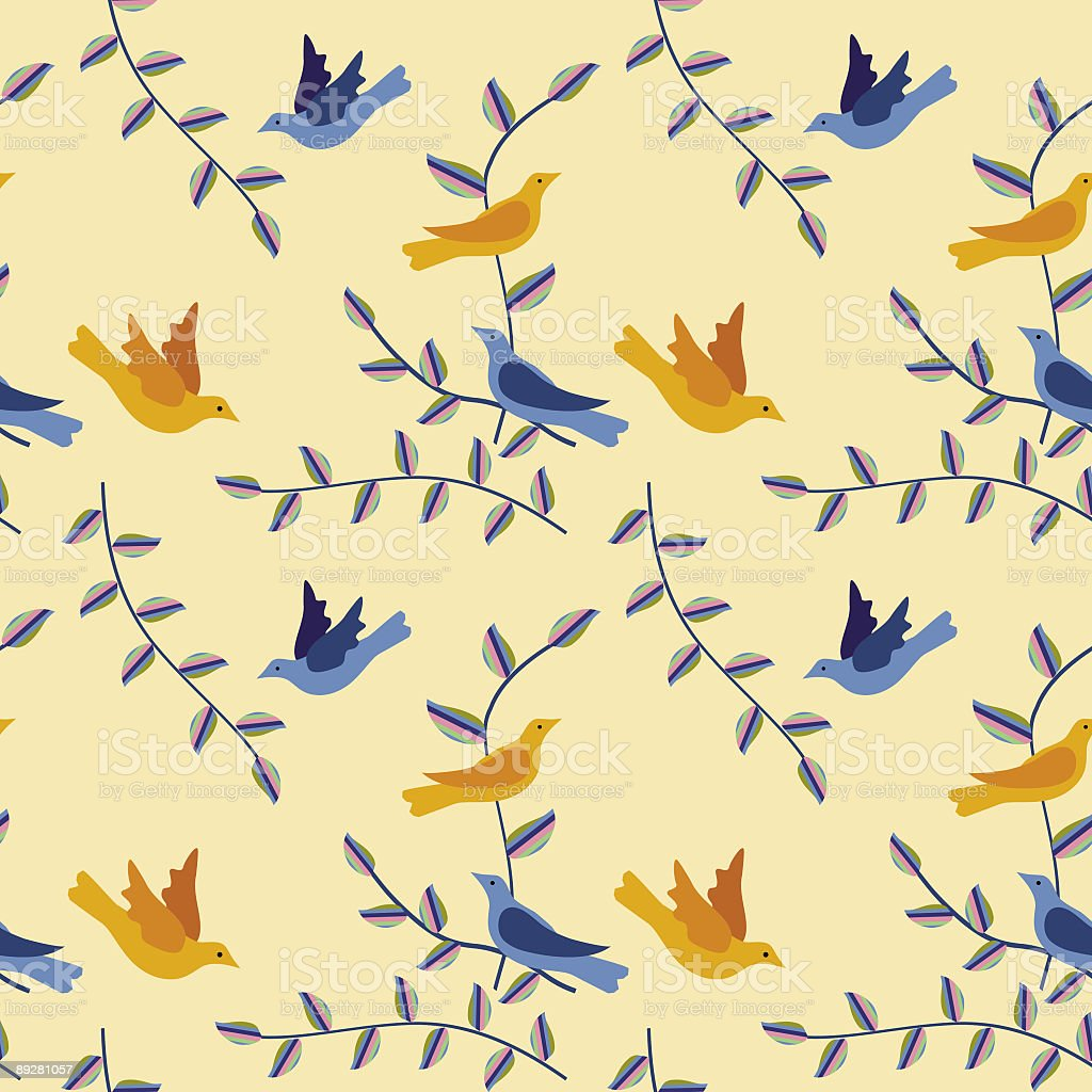 Birds Repeating pattern royalty-free stock vector art