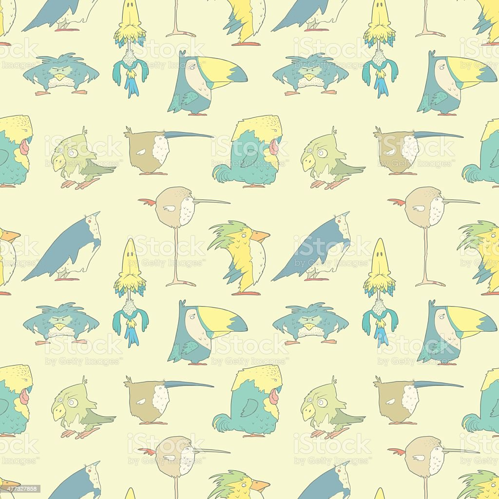 Birds Seamless Background pattern for design and scrapbook in vector vector art illustration