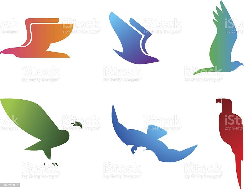 Birds Set vector art illustration
