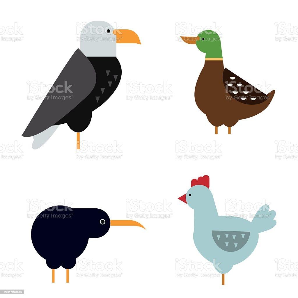 Birds vector set illustration isolated vector art illustration