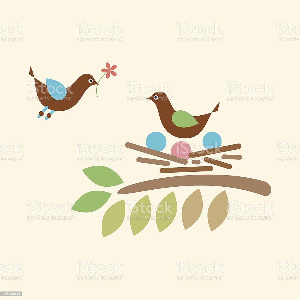birds-love royalty-free stock vector art