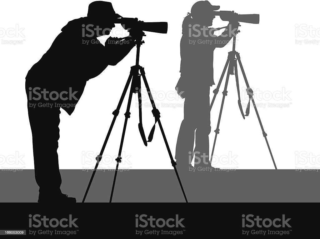 Birdwatchers royalty-free stock vector art