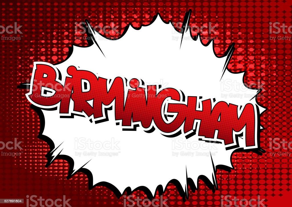 Birmingham - Comic book style word. vector art illustration