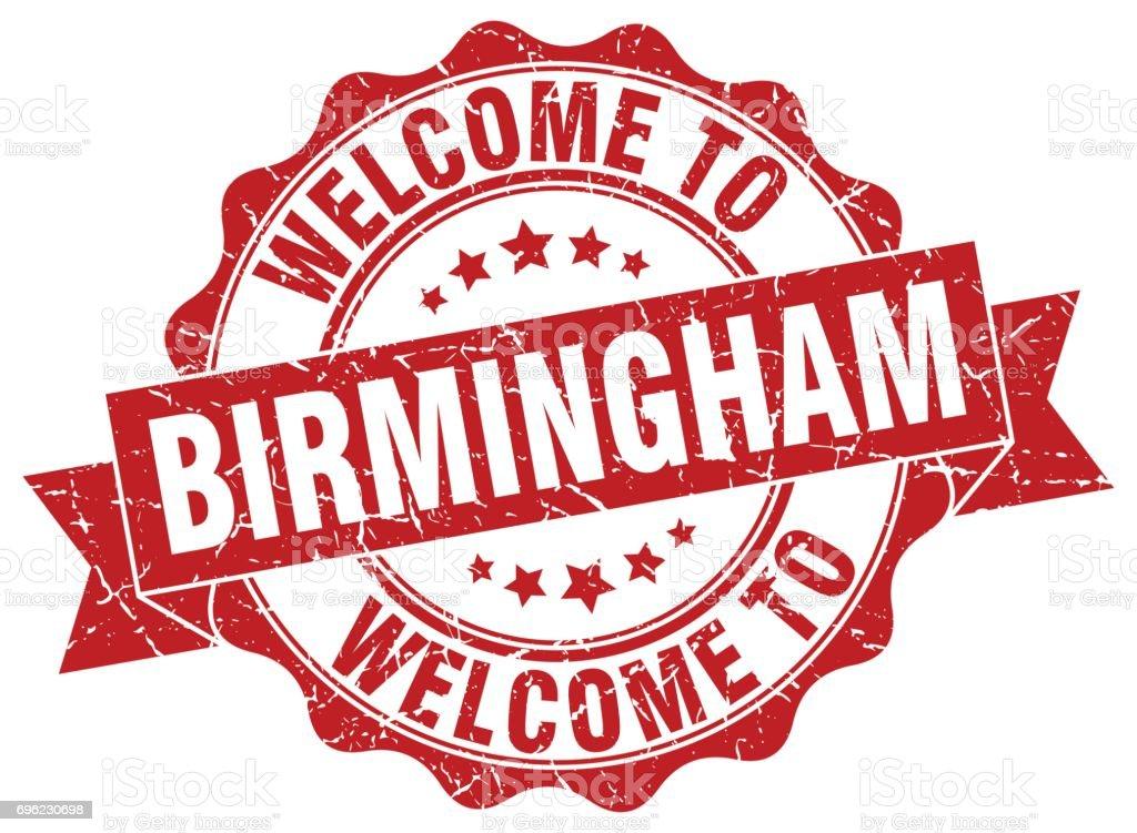 Birmingham round ribbon seal vector art illustration