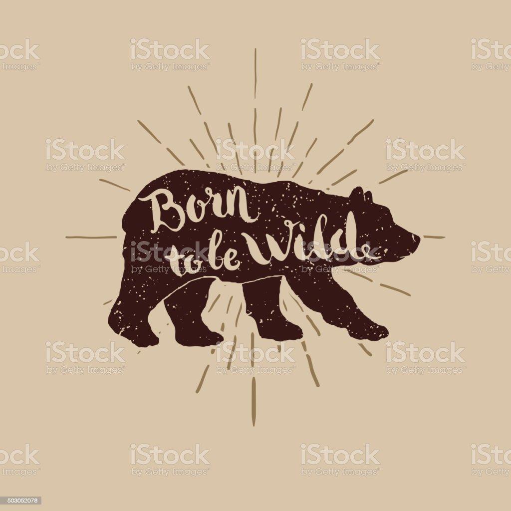 birn wild illustration for t-short vector art illustration