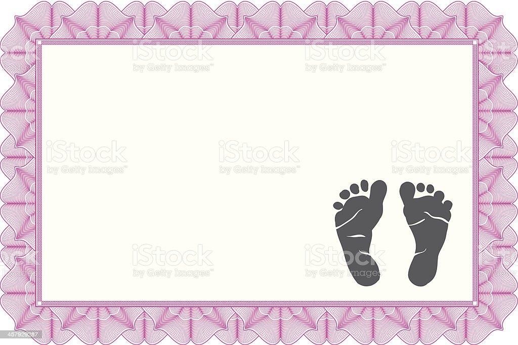 Birth Certificate vector art illustration