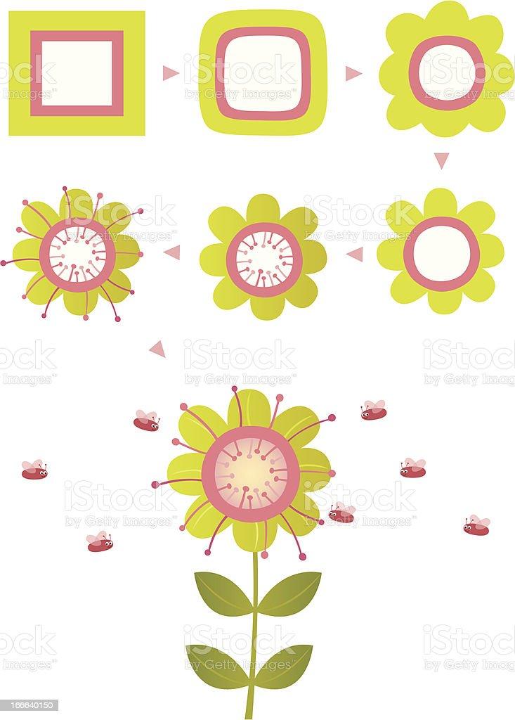 Birth of flower royalty-free stock vector art